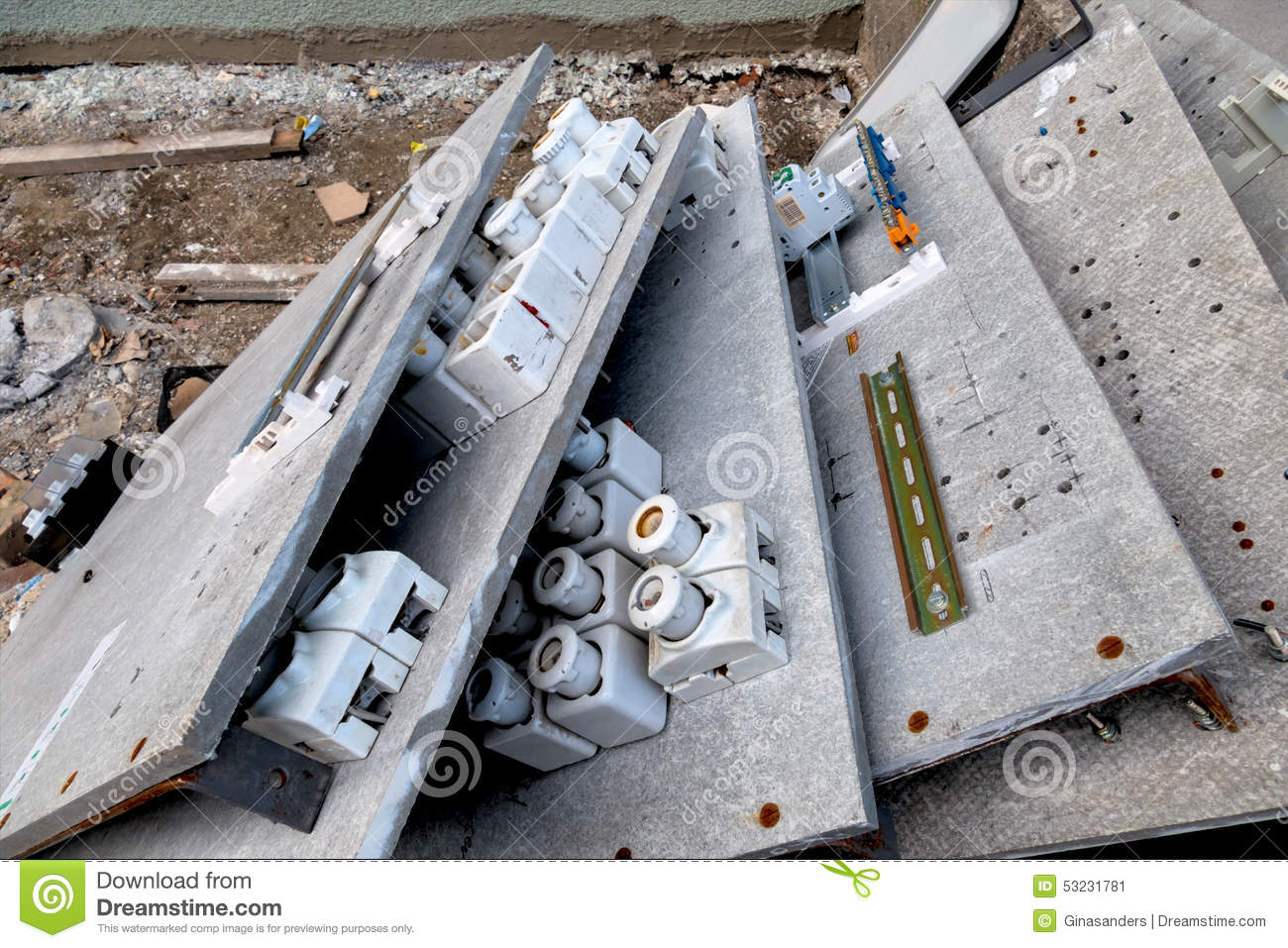 old fuse boxes stock image image of energy electric 53231781 rh dreamstime com apartment has an old fuse box Boat Fuse Box