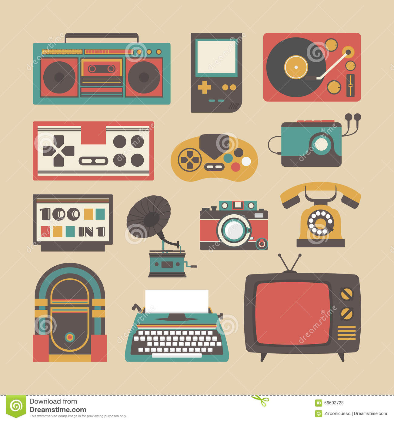Old Gadget Icon Stock Vector Image 66602728