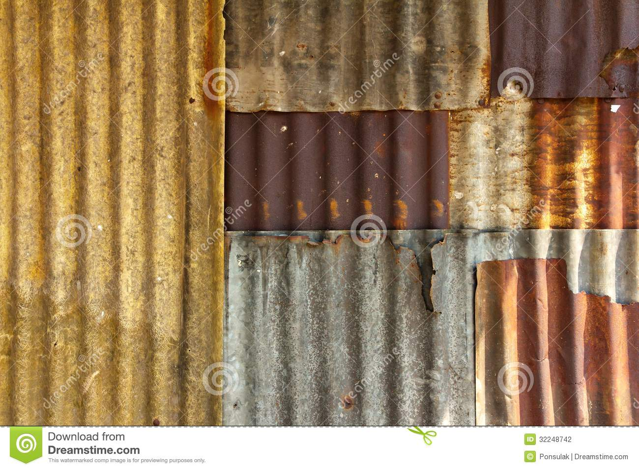 Old Galvanized Steel Wall Stock Photography Image 32248742