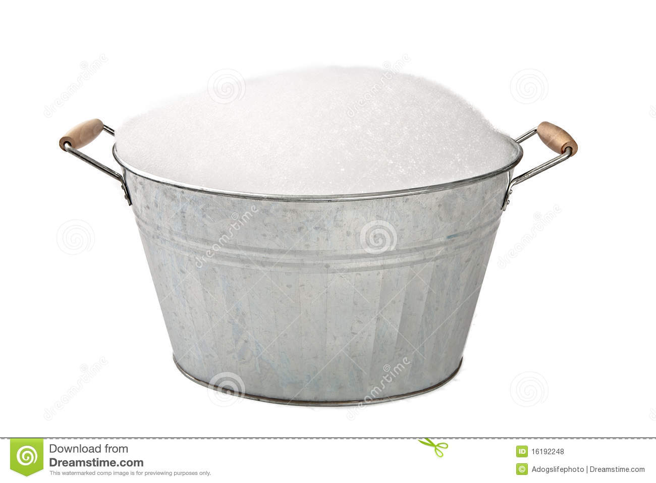 Old Galvanized Wash Tub With Suds Stock Photo Image