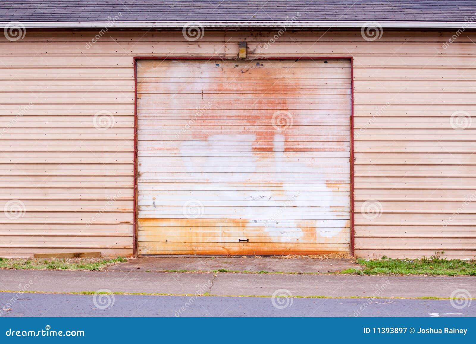 Old Garage Door Stock Image Image Of Storage Copyspace