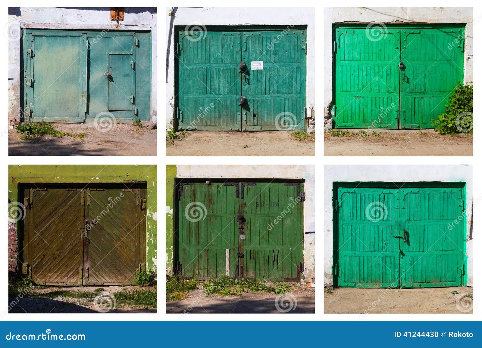 Old Garage Door Six Pictures Stock Photo Image 41244430