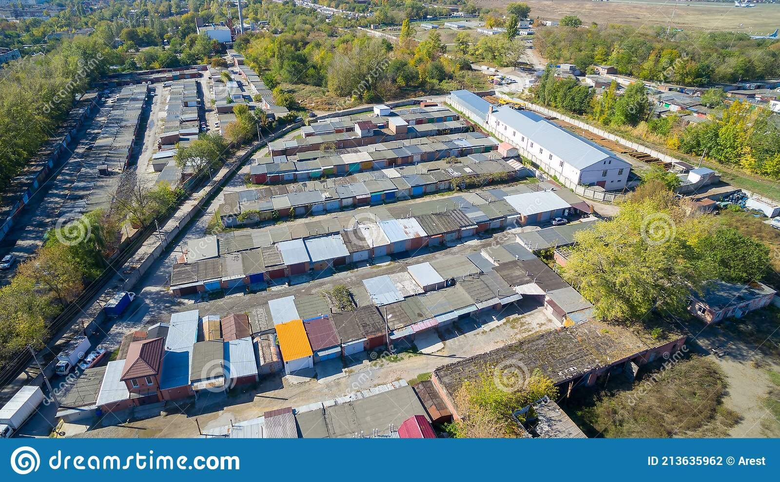 old-garages-view-above-drone-many-213635962.jpg