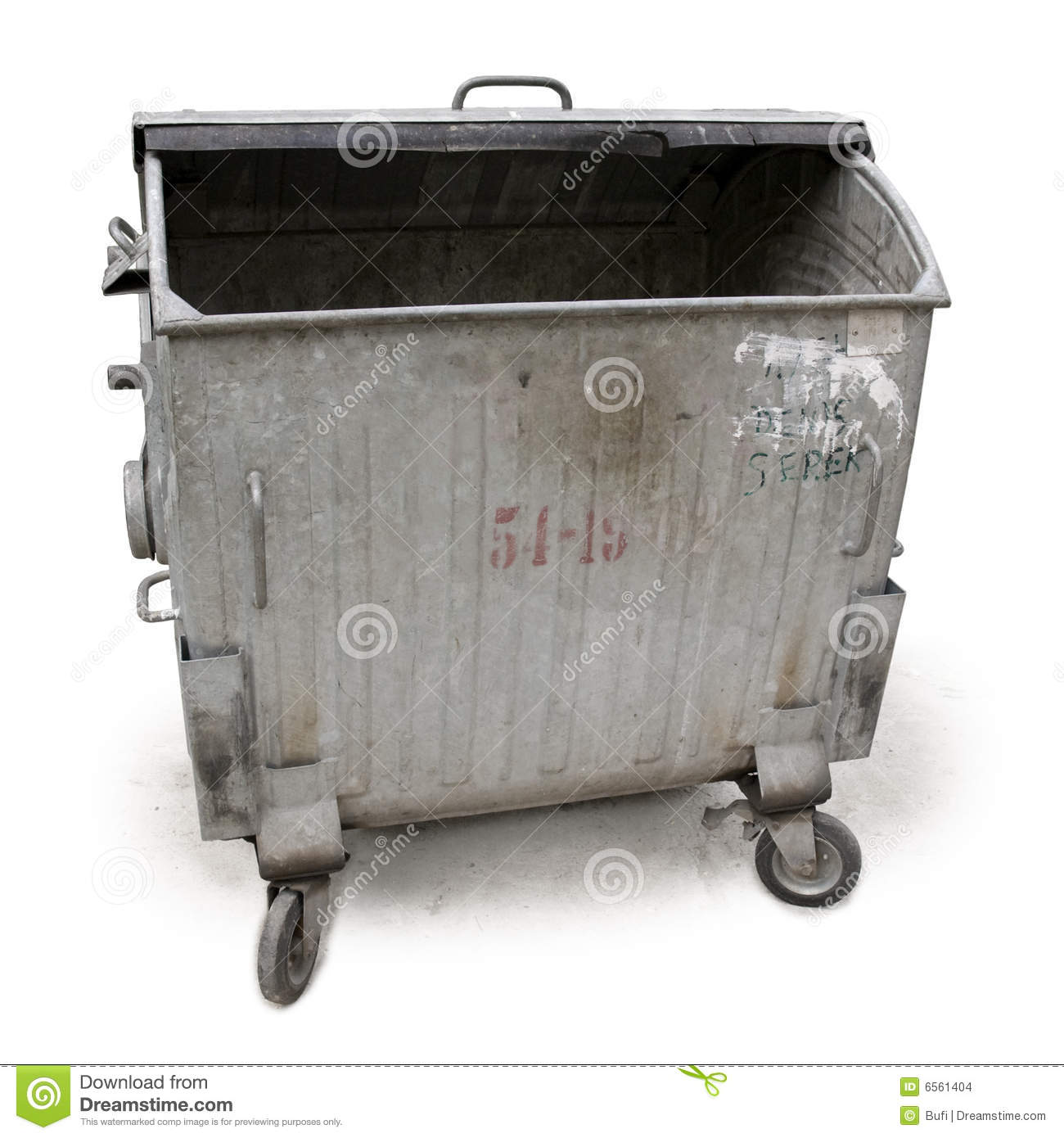 Old Garbage Container Stock Photo Image Of Cutout