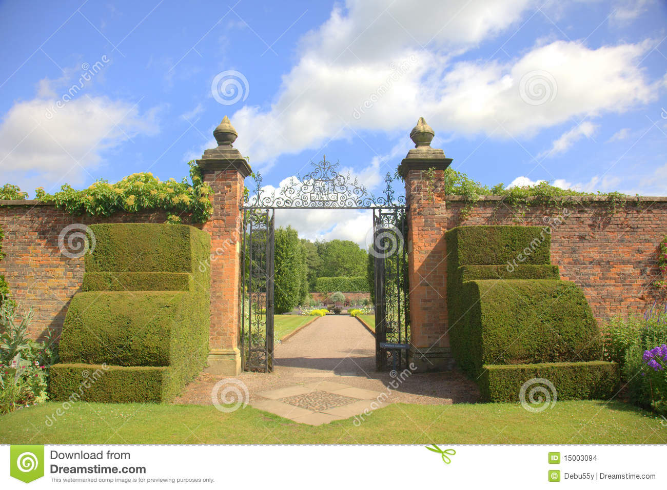 Royalty Free Stock Photo. Download Old Garden Gates ...