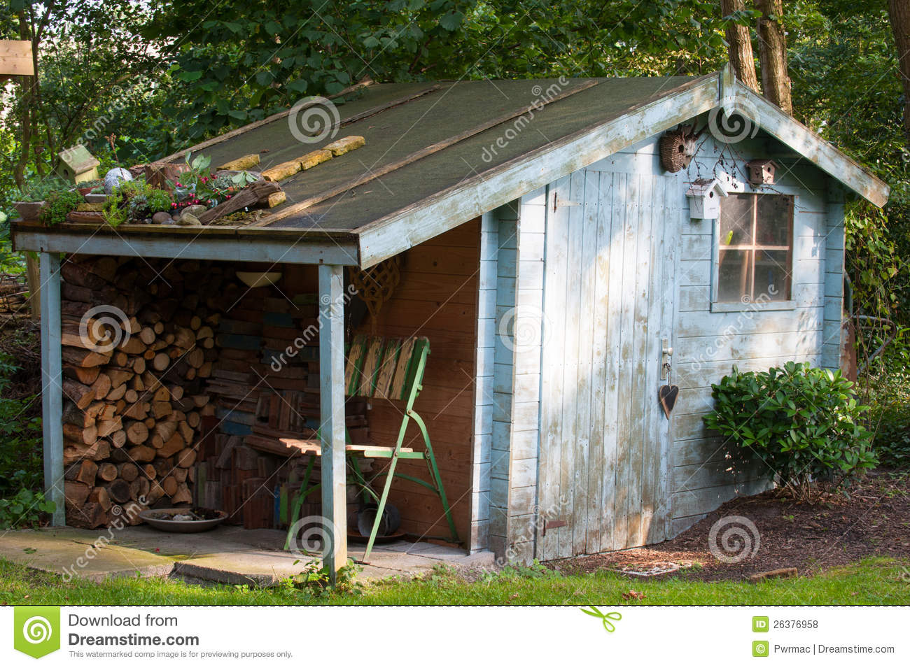 Old Garden Shed Royalty Free Stock Photos - Image: 26376958