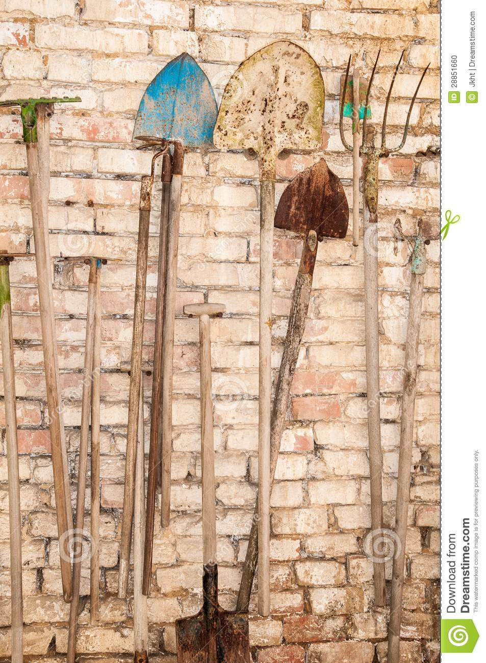 Old Garden Tools Stock Photo Image 28851660