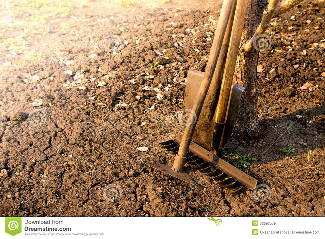 Old garden tools stock image image of cultivator garden for Soil utensils