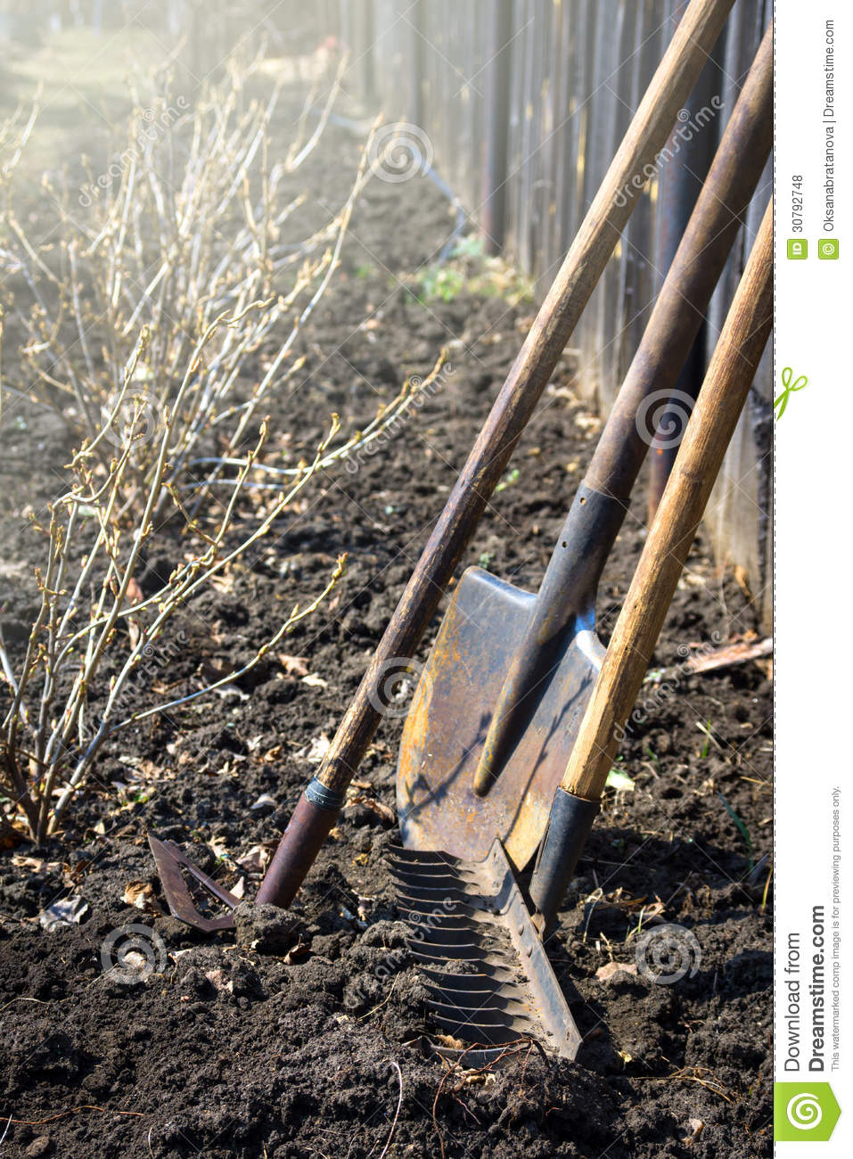 Old garden tools stock photo image of farming gardening for Agriculture garden tools