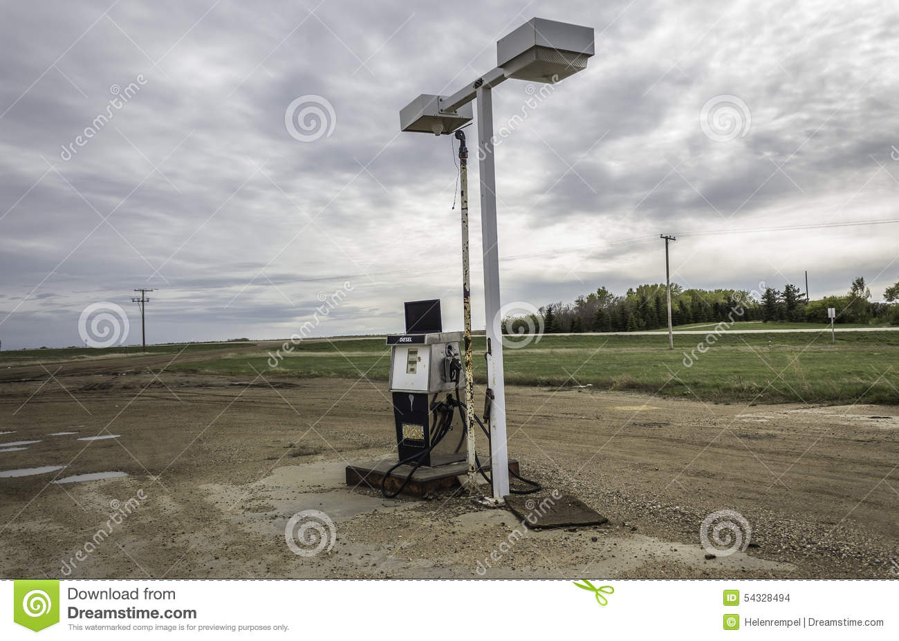 Royalty-Free Stock Photo. Download Old Gas ... & Old Gas Pump Sitting Under Broken Light Stand. Stock Photo - Image ... azcodes.com