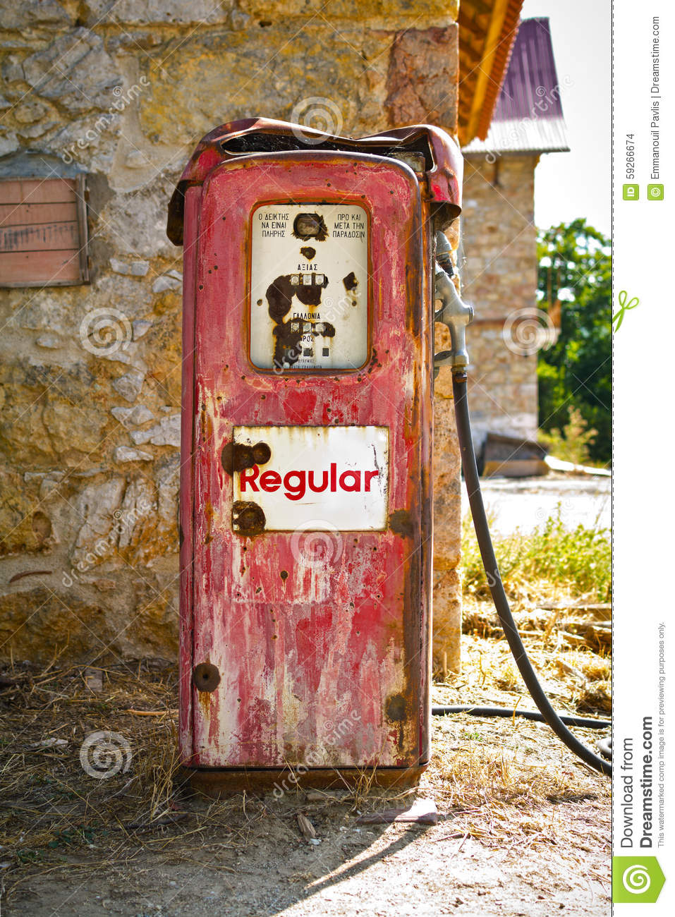 Old gas pump stock photo  Image of gauge, count, gallon - 59266674