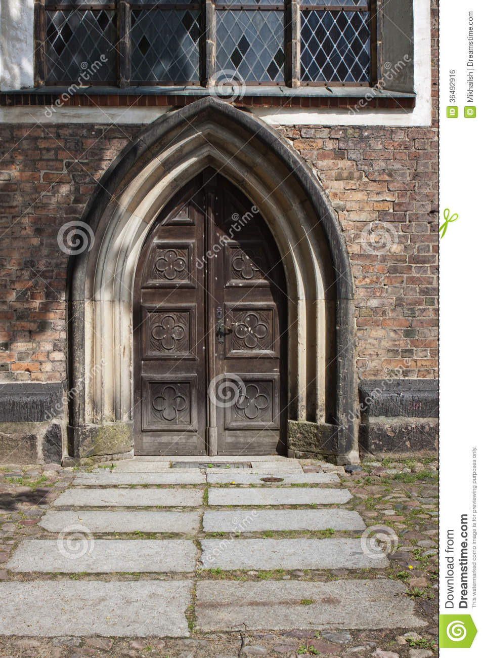 Old Gates Of Church Stock Photo  Image Of Doorway