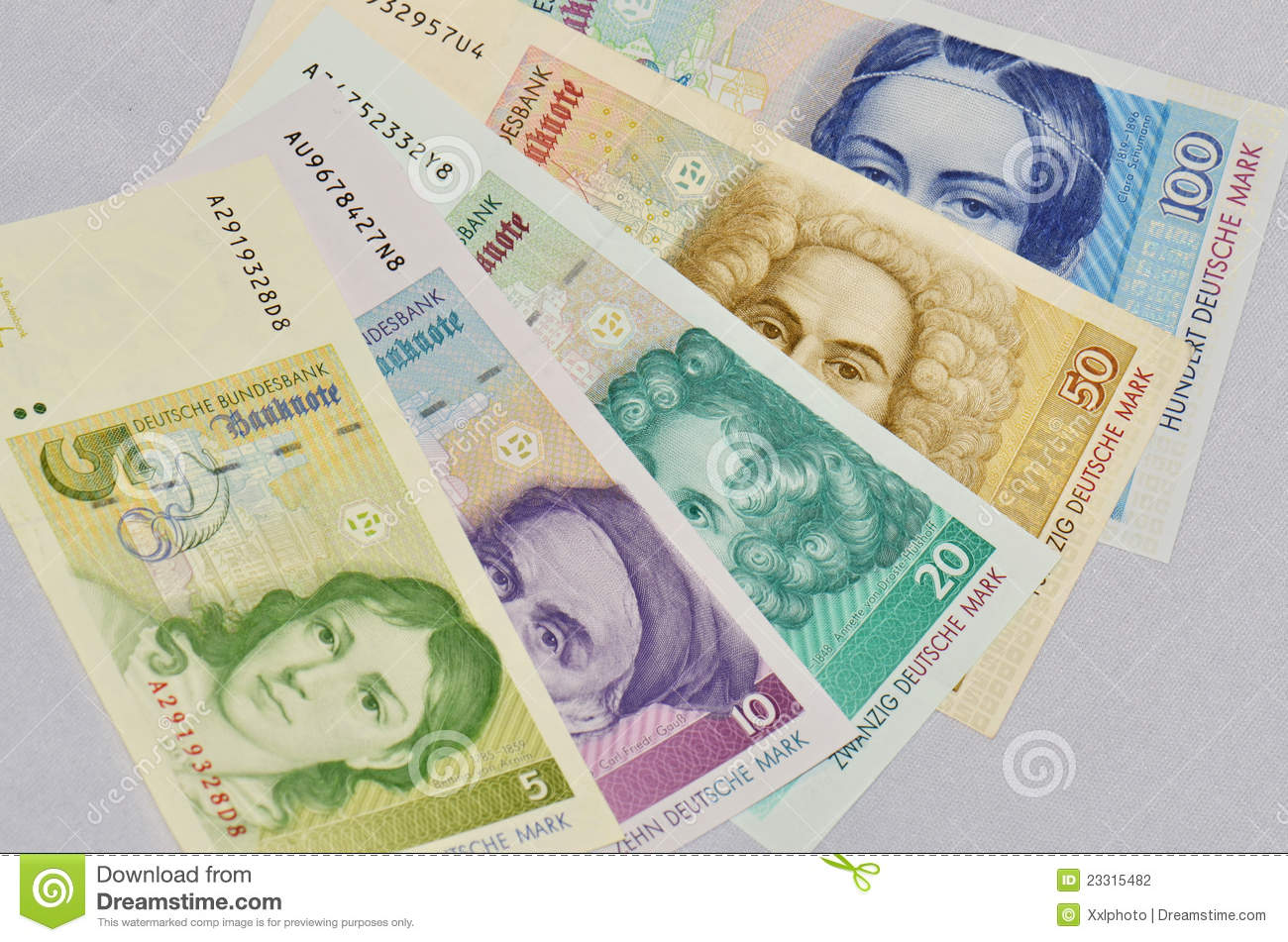 Old German Currency Stock Photography - Image: 23315482