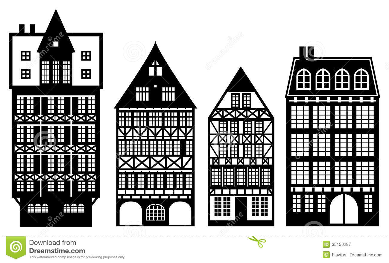 Old German Houses Royalty Free Stock Photography Image 35150287