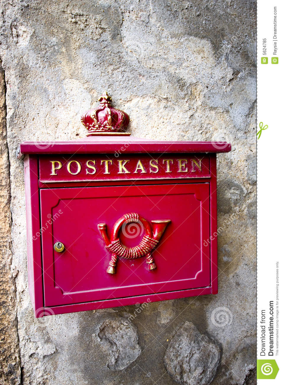 Old German Letterbox Royalty Free Stock Photo - Image: 5624785