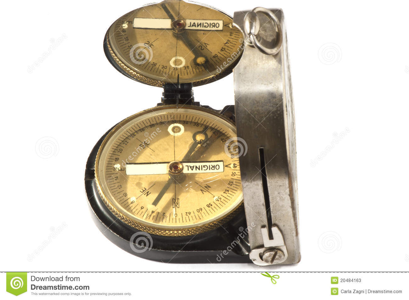 Old German Military Compass Stock Image - Image of compass ...