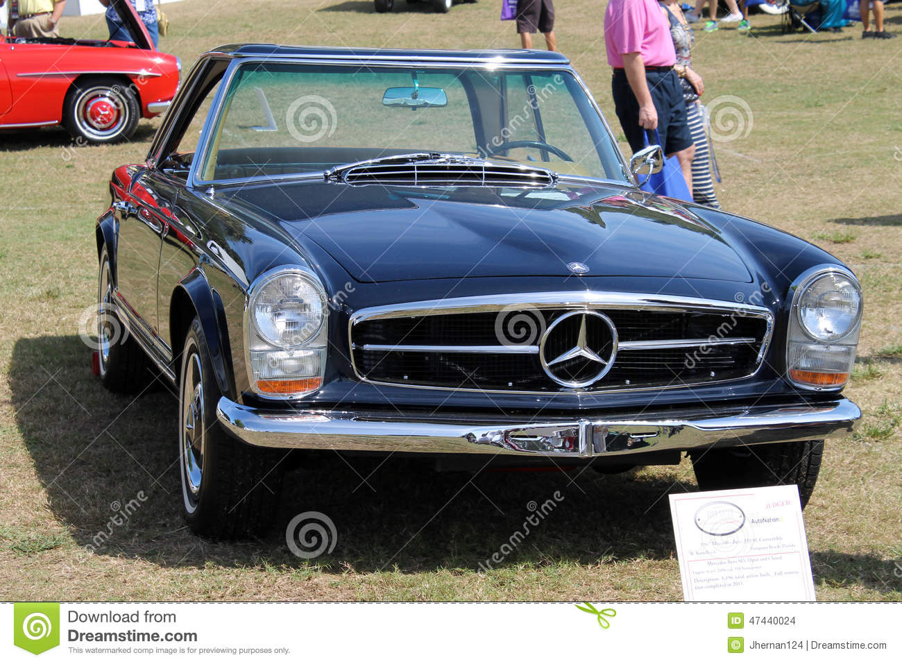 Old german sports car front editorial stock image image for Mercedes benz sport car