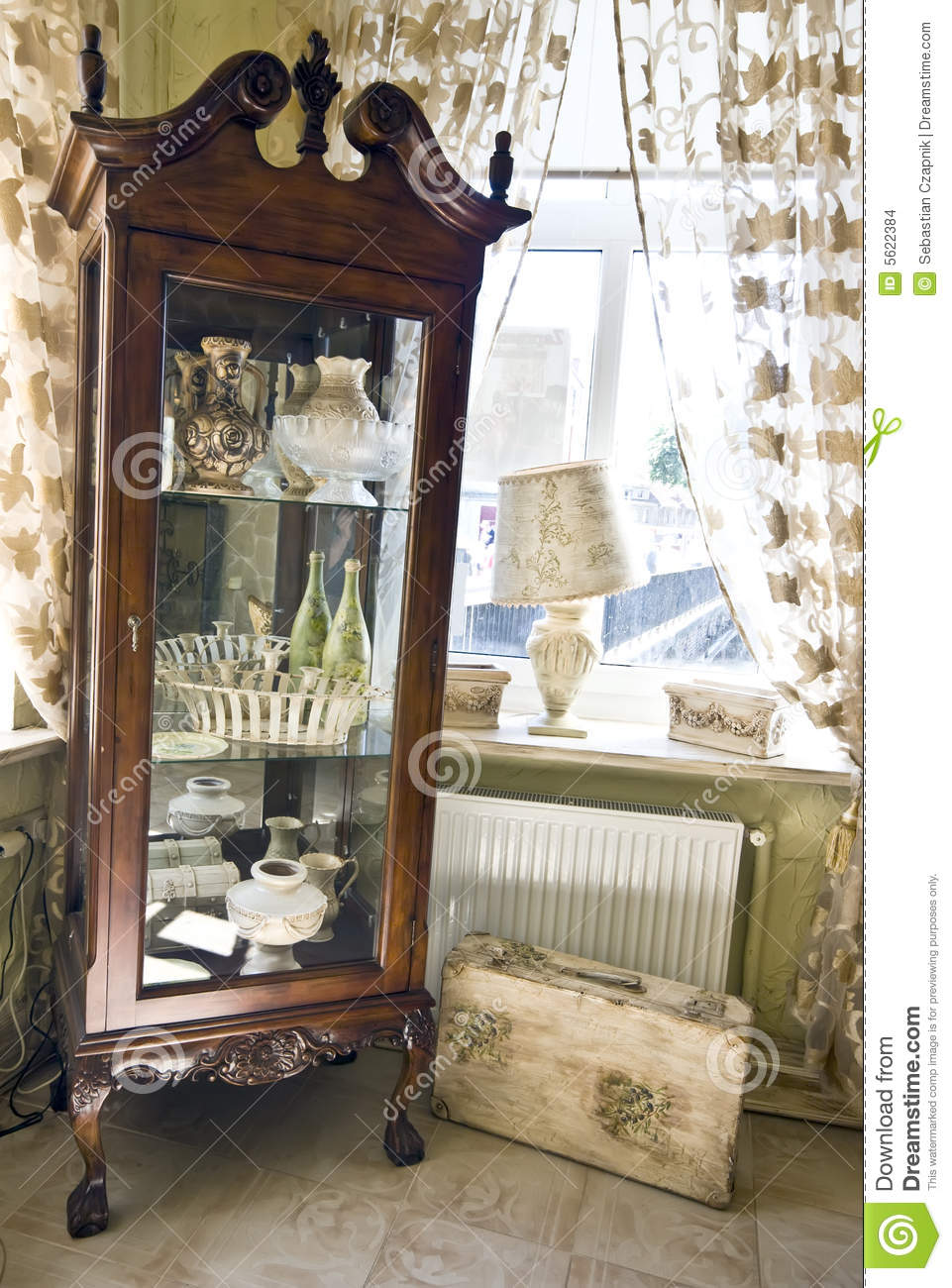 Old glass cabinet