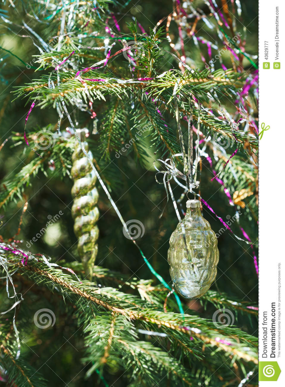download old glass cone and icicle christmas decoration stock image image of needle xmas - Icicle Christmas Decorations