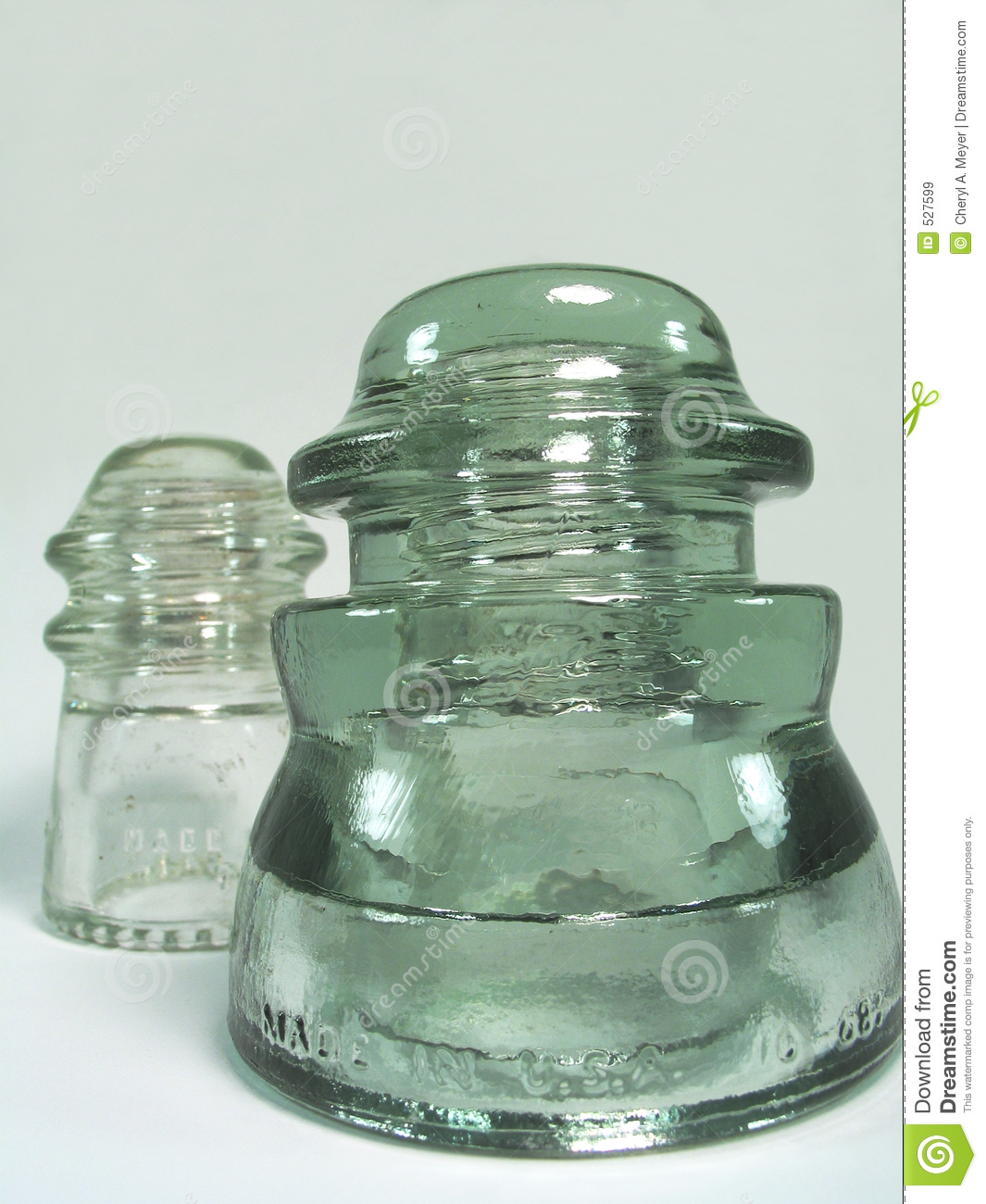 Old Glass Insulators Royalty Free Stock Images Image 527599