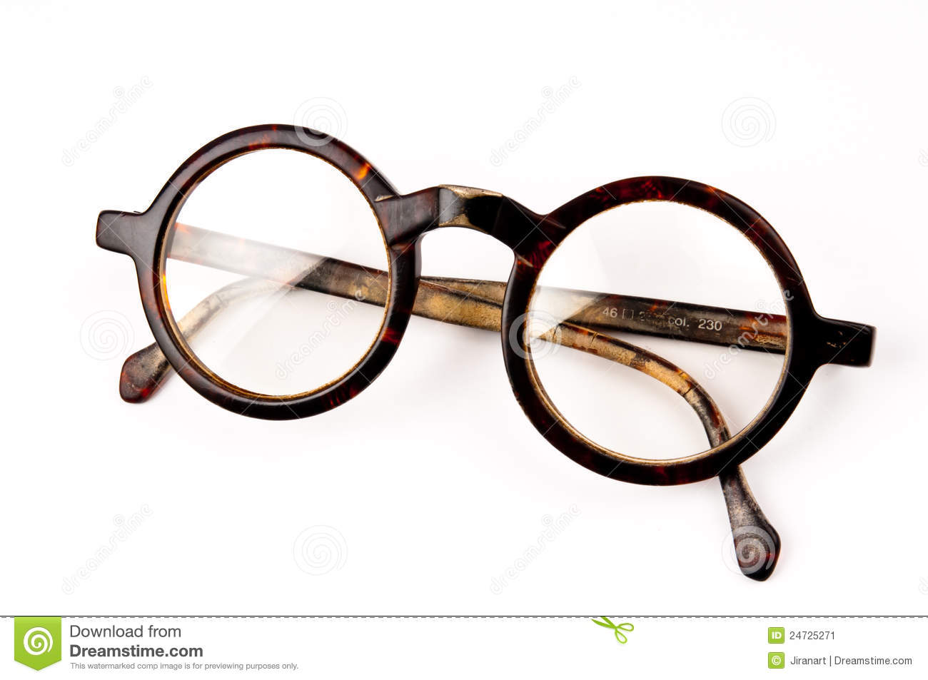 Old Glasses Isolated Stock Image - Image: 24725271