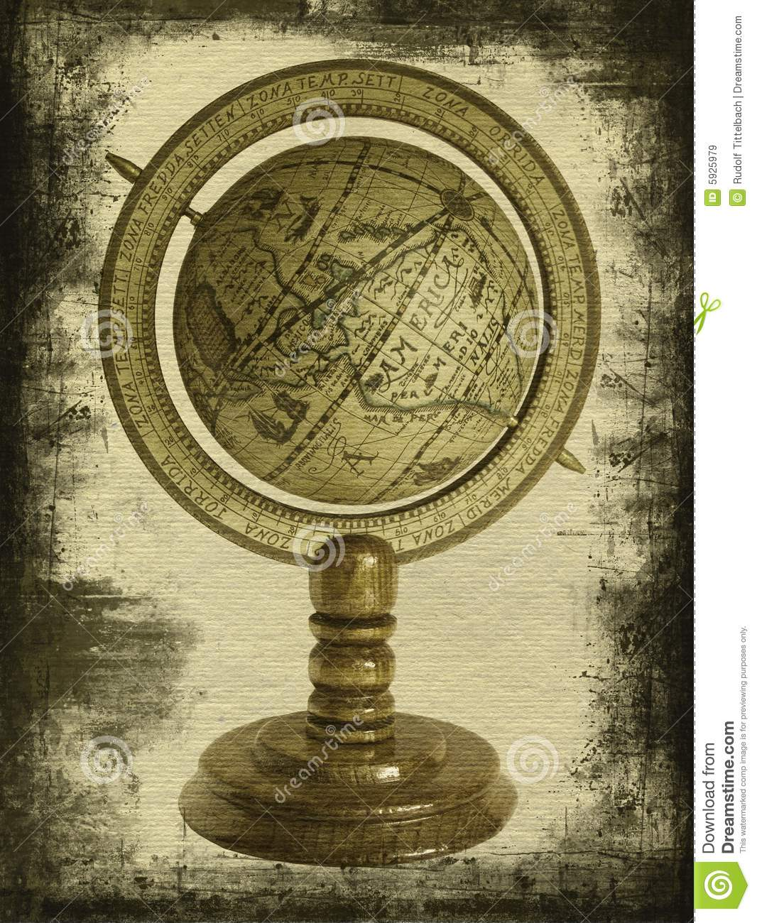 Old Globe Royalty Free Stock Images Image 5925979