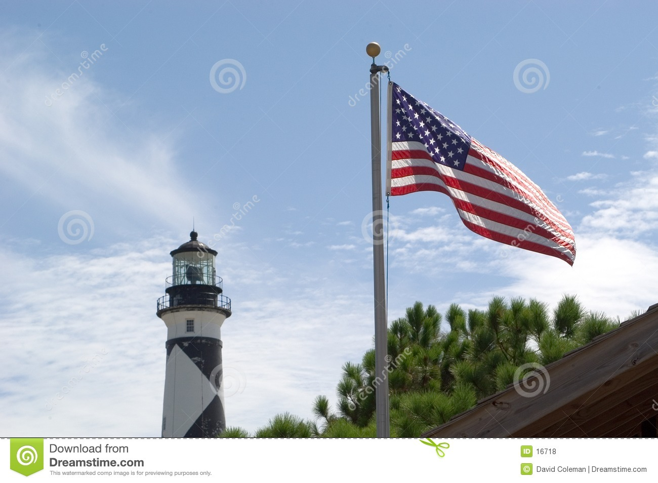 Old Glory on Cape Lookout