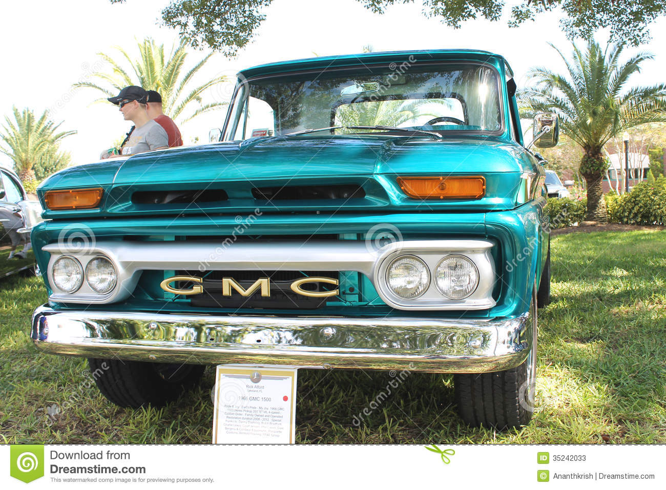 Old GMC Pickup-1966 At The Car Show Editorial Stock Photo