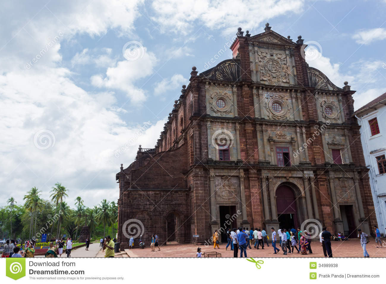 Old goa famous stone church building editorial stock photo for Religious buildings in india
