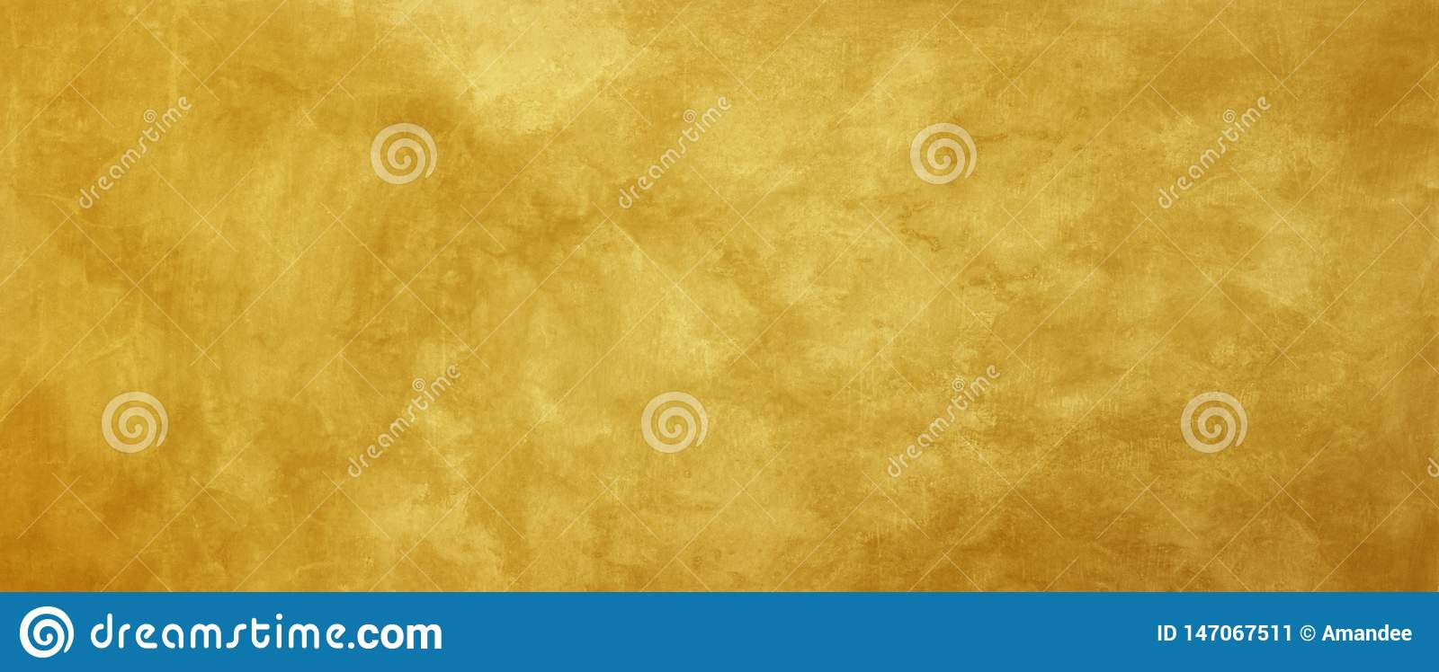 Old gold background with distressed vintage grunge texture design