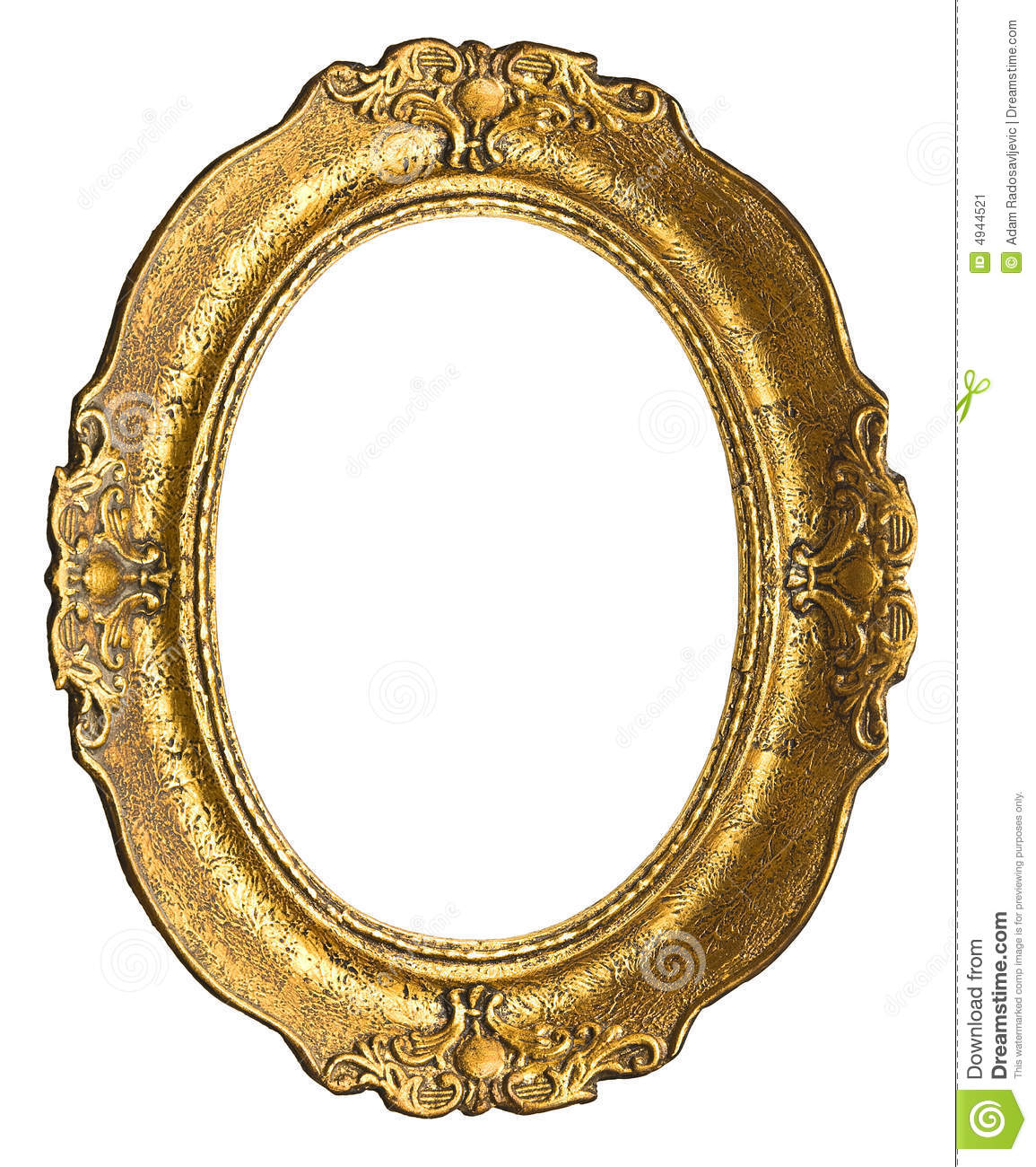 Old Gold Frame - Oval Stock Image - Image: 4944521