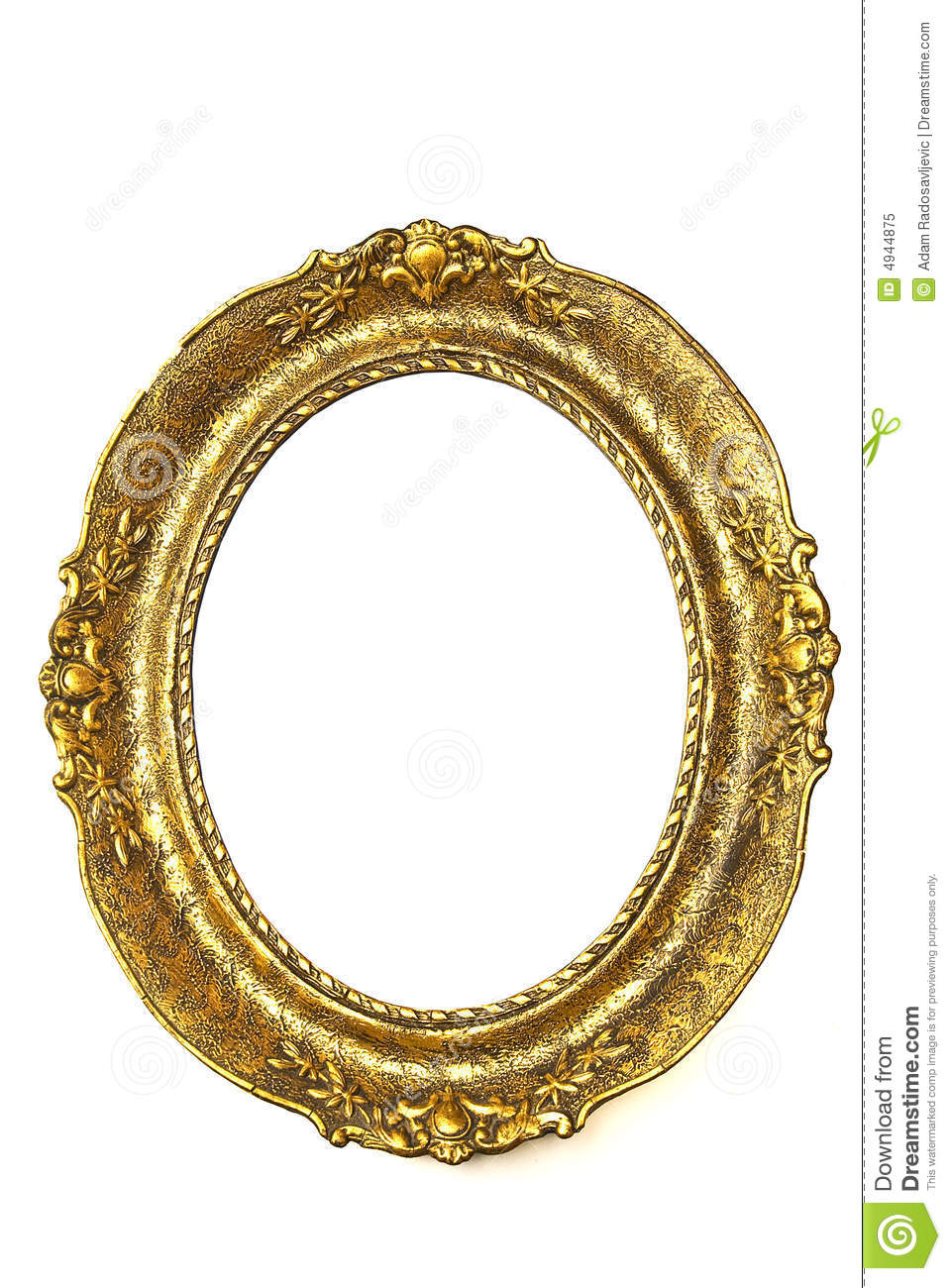 Old Gold Frame Oval Royalty Free Stock Photo Image
