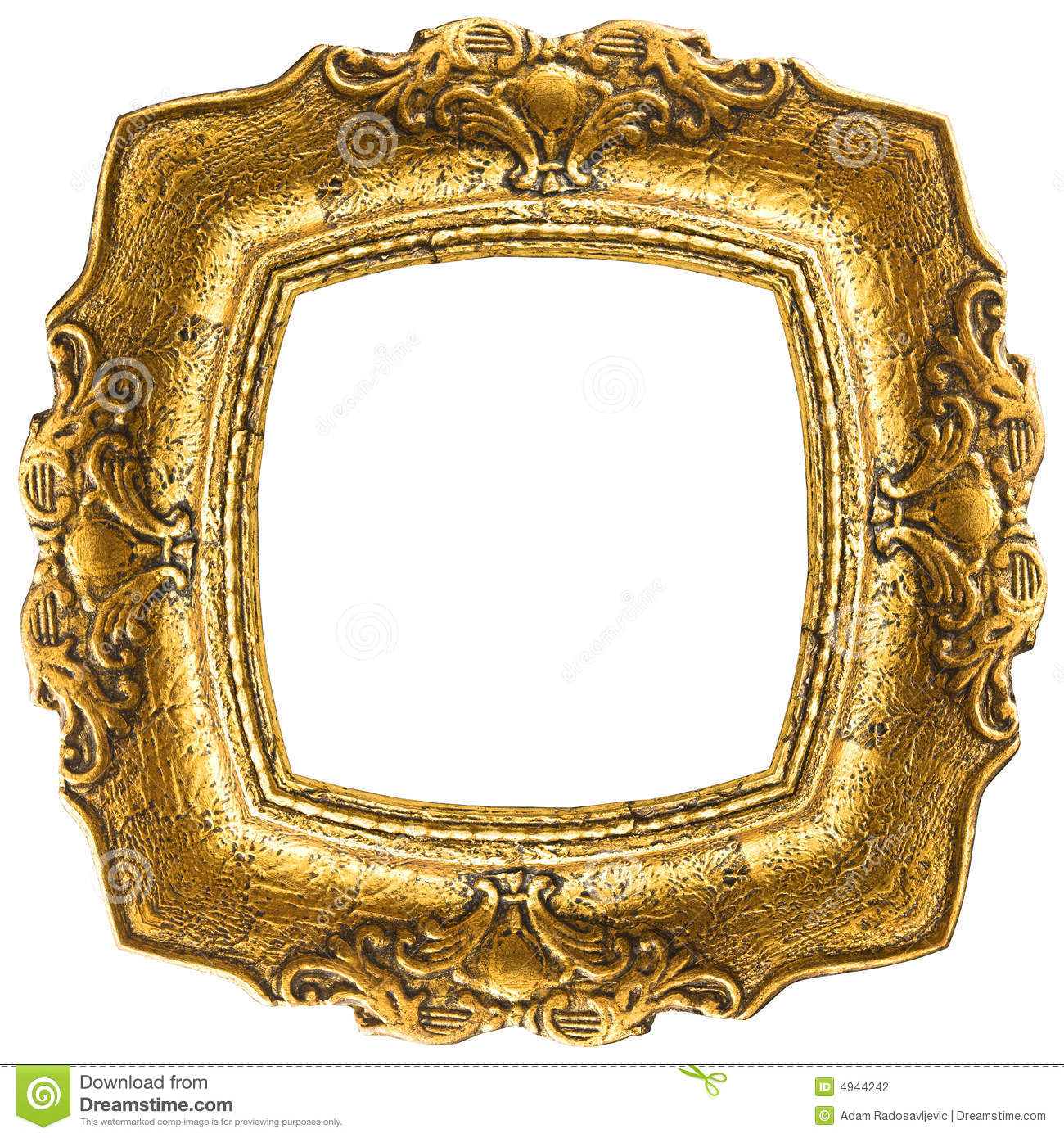 Old Gold Frame Rectangle Stock Photo Image Of Domestic