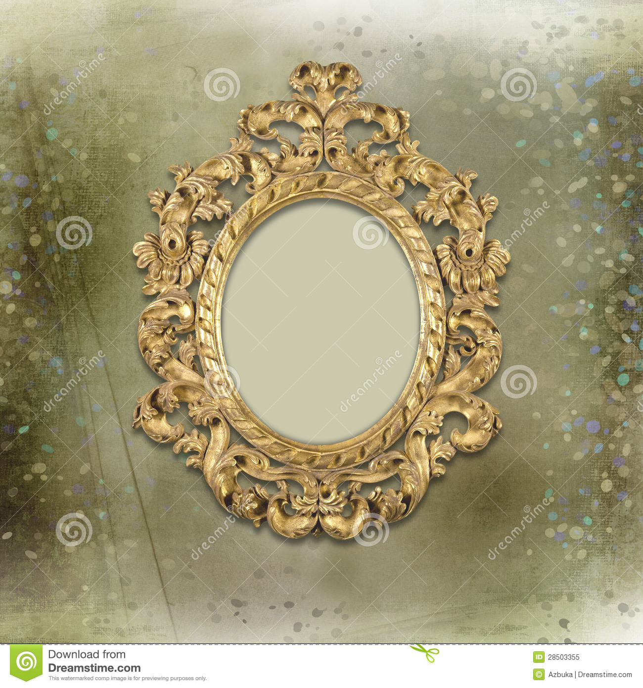 old gold frames victorian style on the background royalty free stock photo