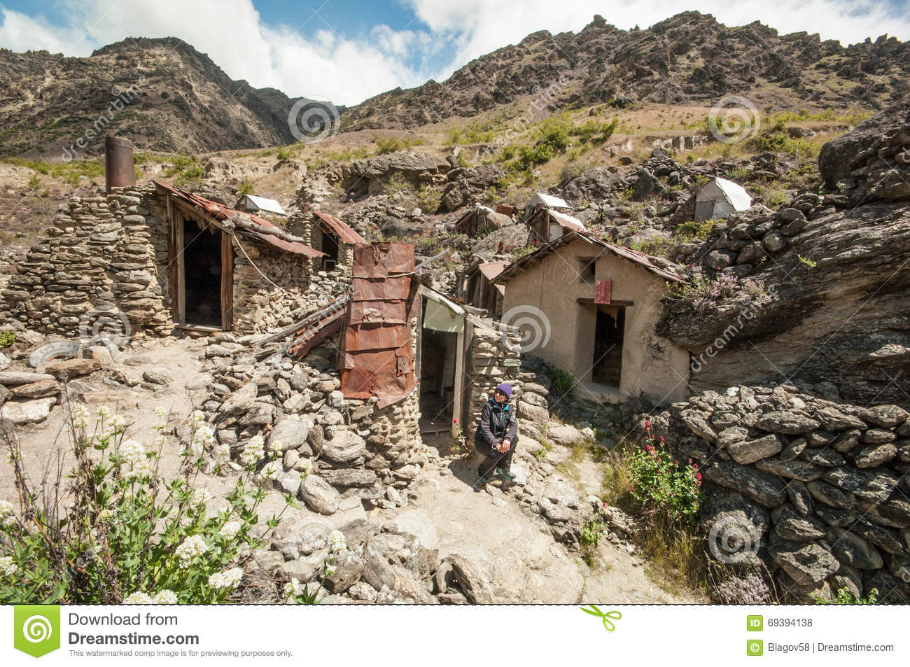 Old Gold Mine In Central Otago Stock Photo - Image of otago