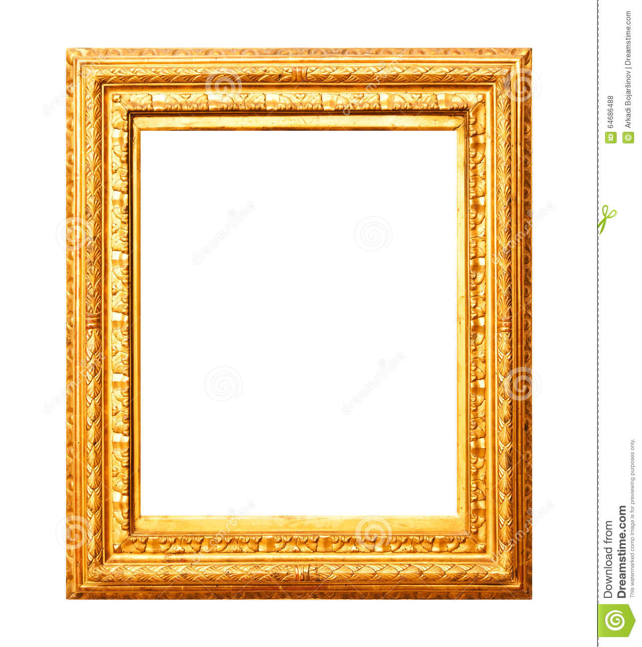 Old Gold Painting Frame Stock Photo Image Of Blank Closeup 64686488