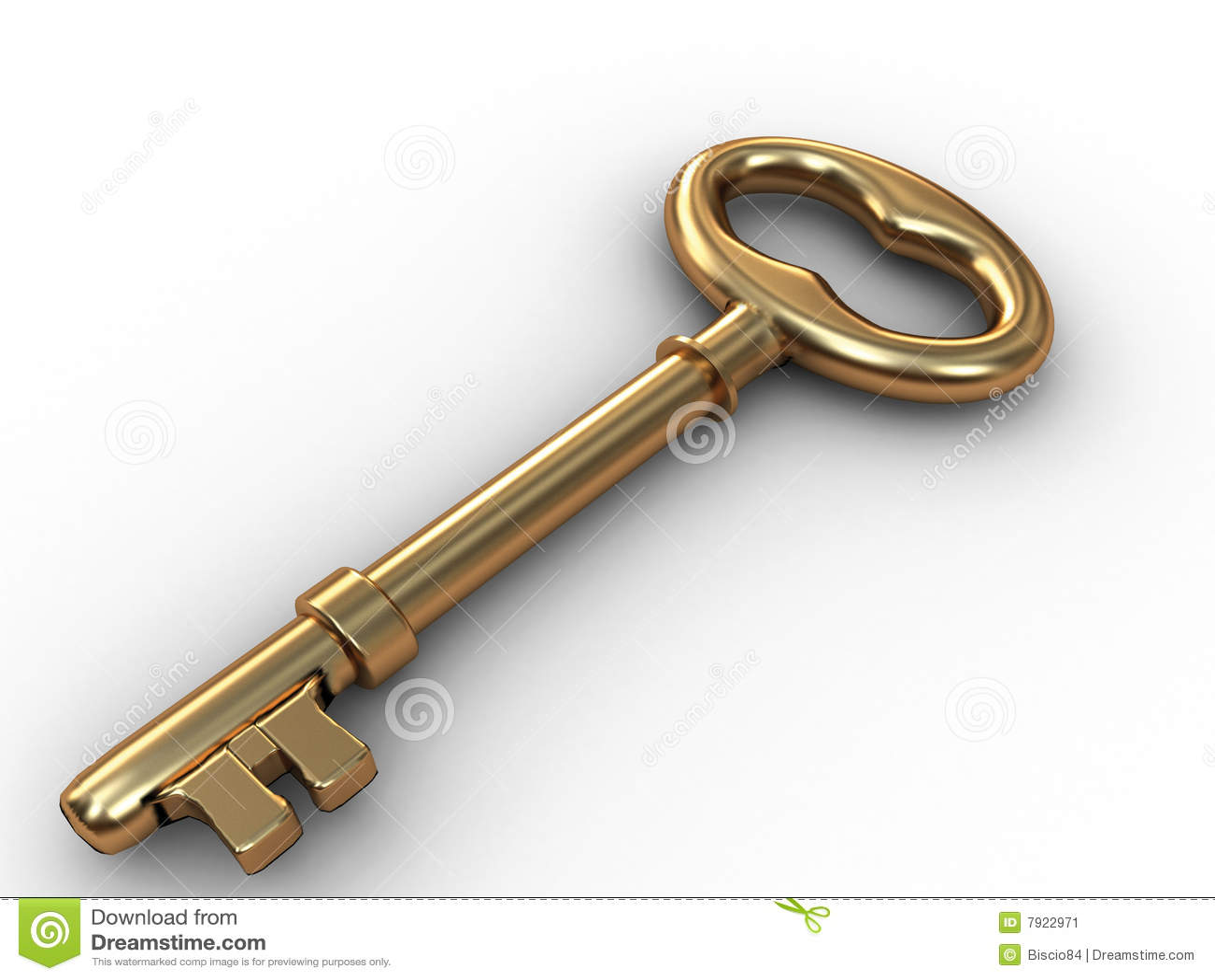 Old Gold Skeleton Key Stock Image Image 7922971