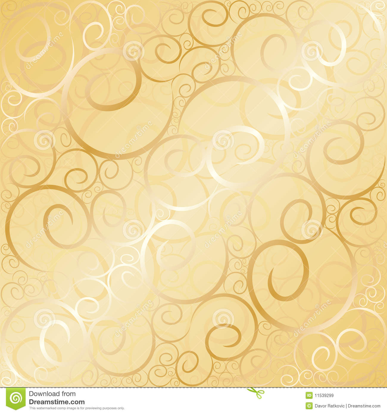 Old Gold Swirl Royalty Free Stock Images - Image: 11539299