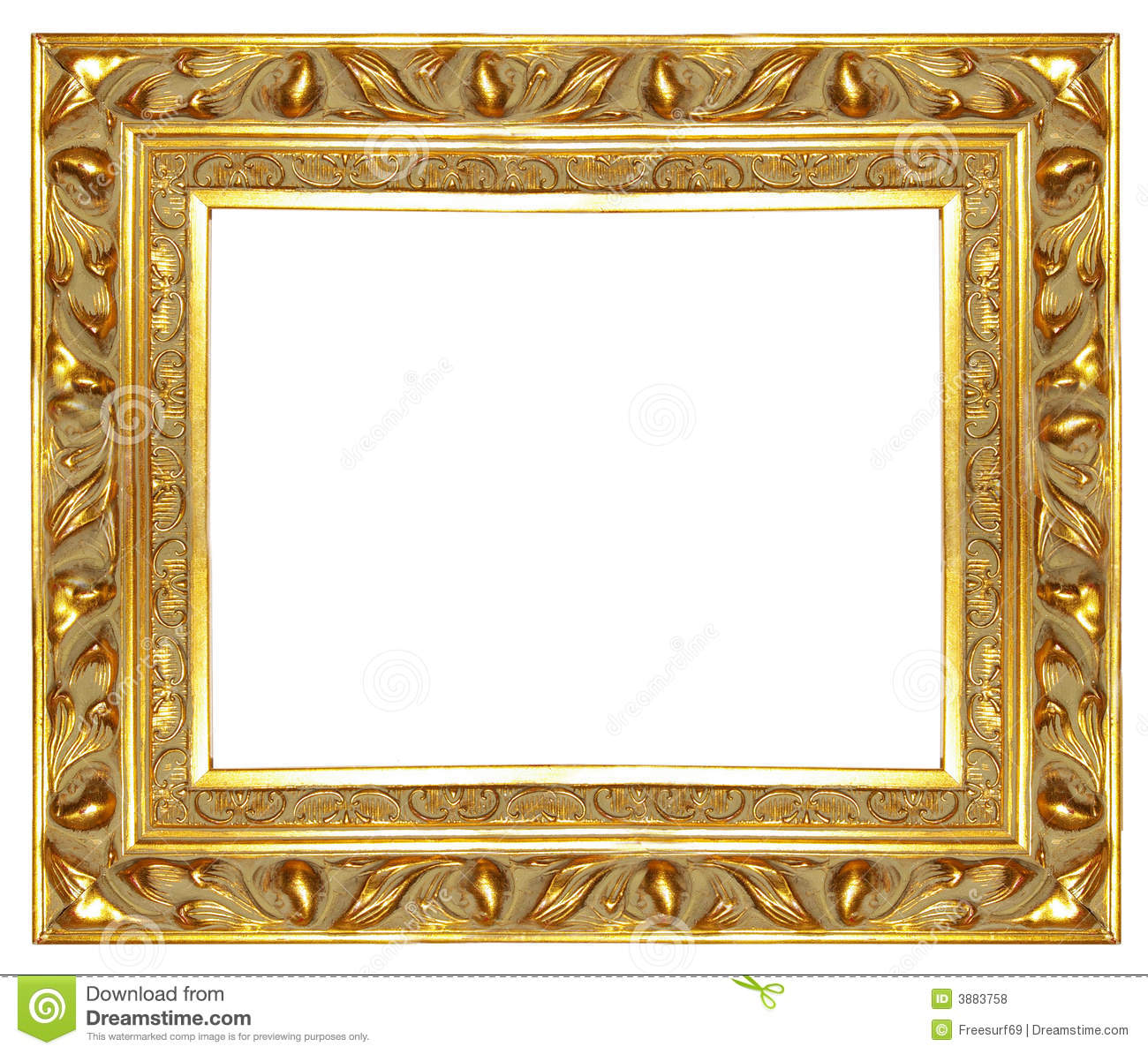 Old golden frame stock photo image of gold classic 3883758 old golden frame jeuxipadfo Gallery
