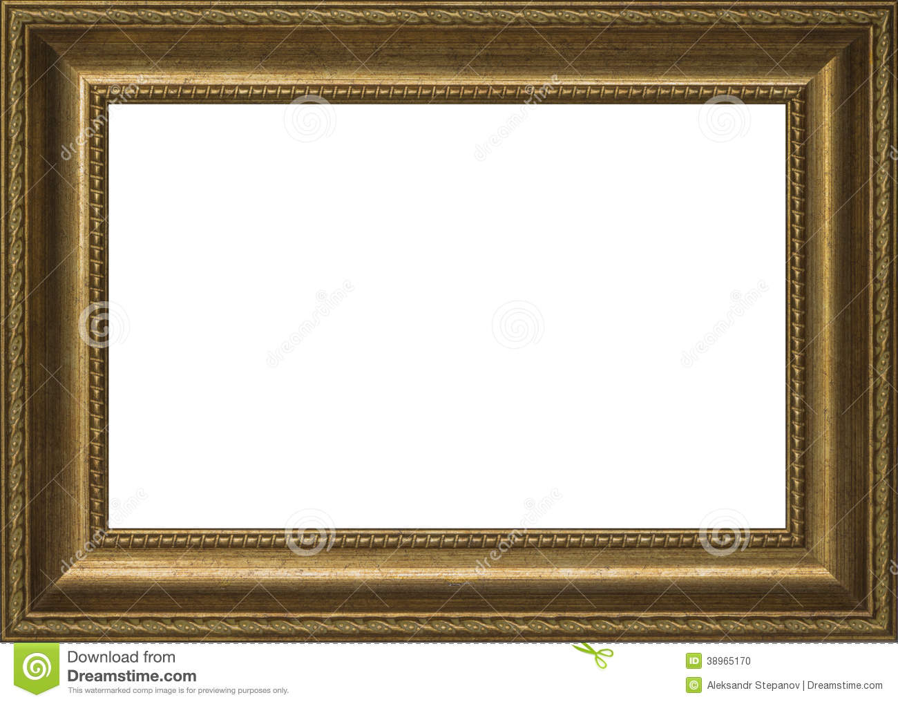 Old Golden Frame For Painting Stock Photo - Image of gold, painting ...