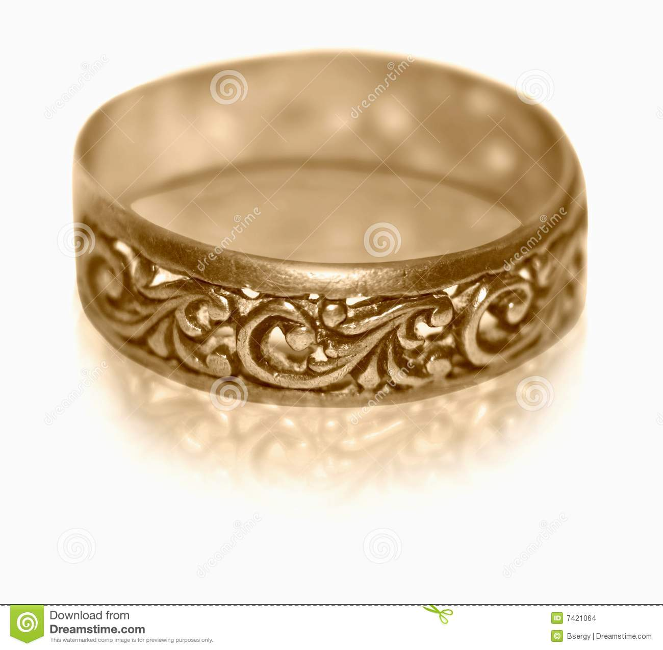 Gold Ring Old Fashion
