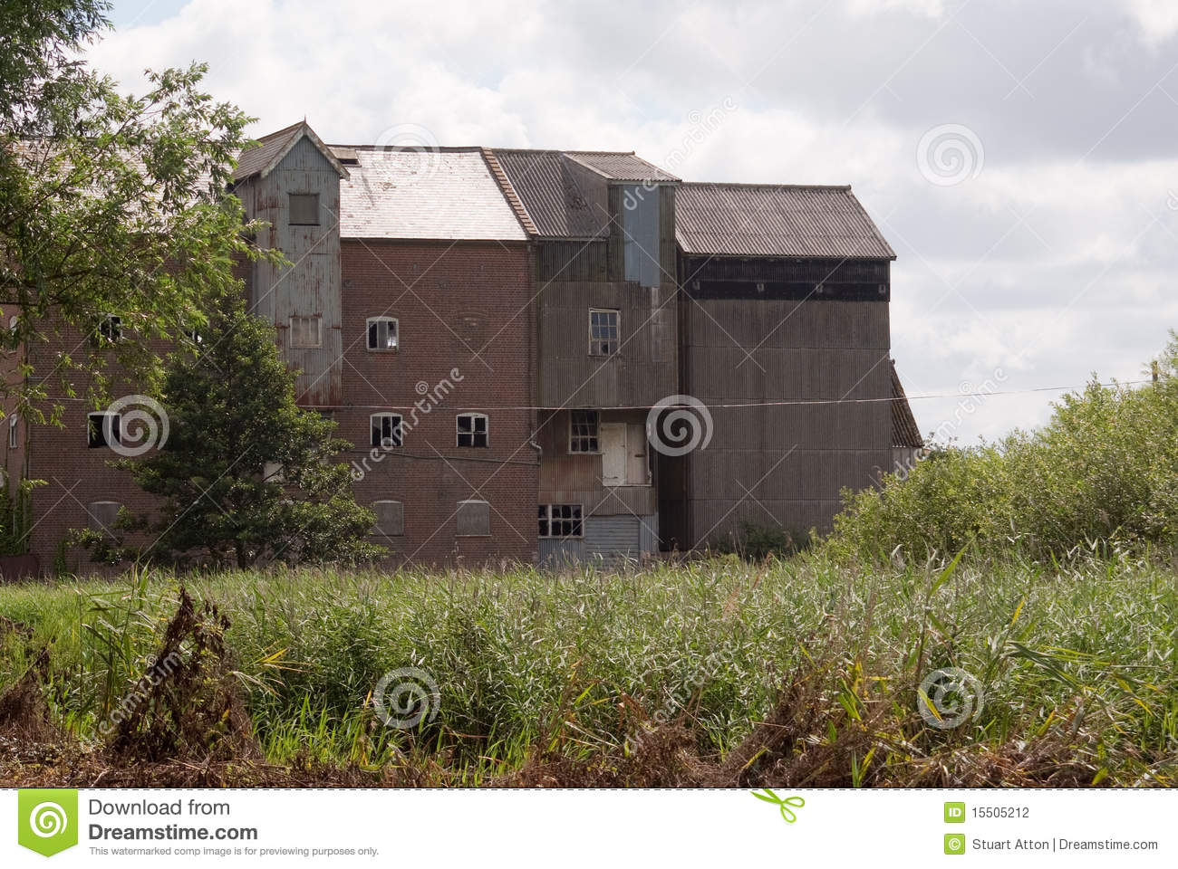 Old Grain Mill Stock Photo Image Of Boarded Roof