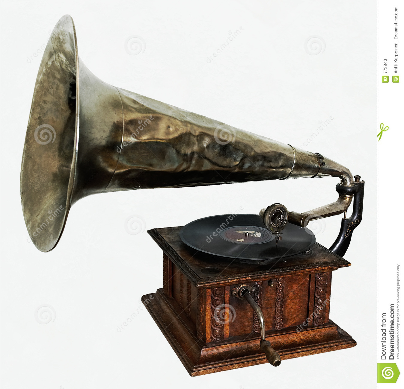 Old Gramophone Stock Photo - Image: 773840