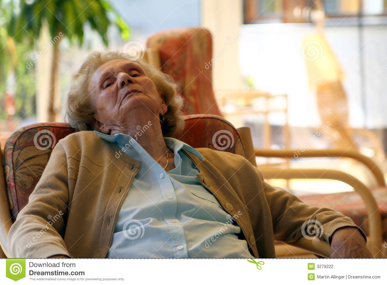 Old Granny Relaxing Stock Photography - Image: 3279222
