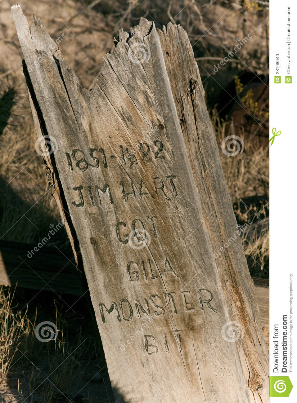Old Grave Marker Stock Photo Image Of West Killed 1800s