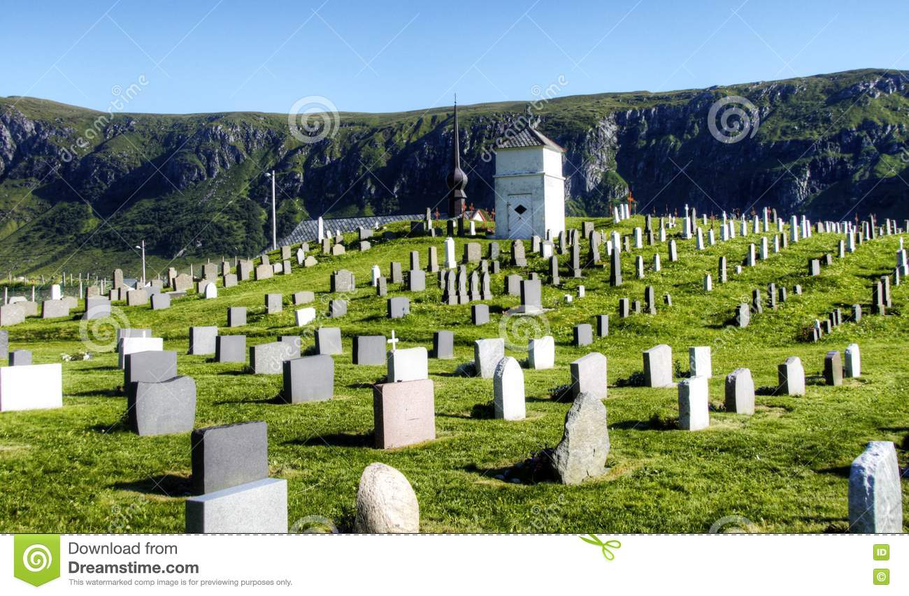 Old Graveyard In Dramatic Scenery Stock Photography - Image: 20390802