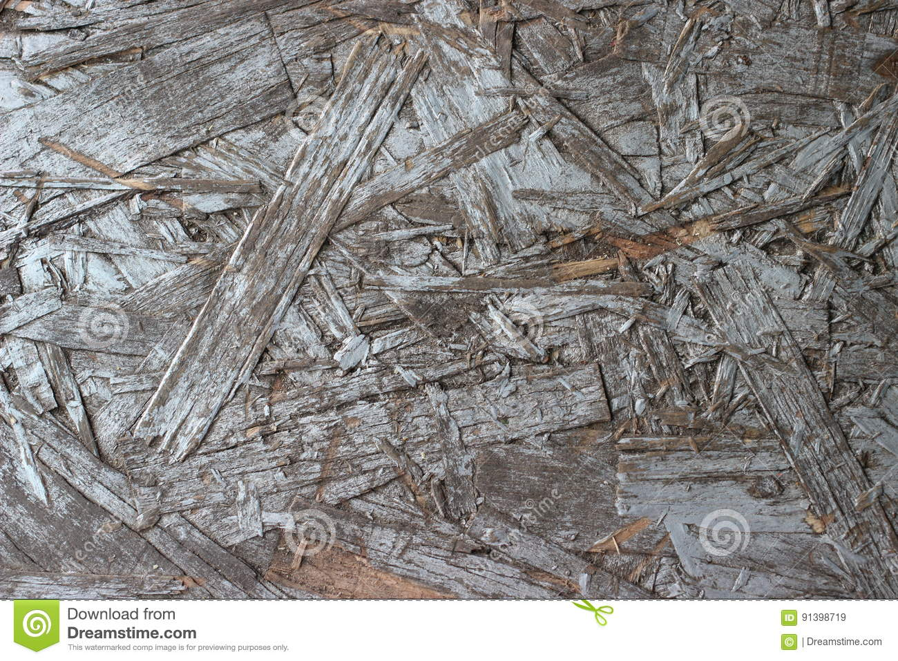 Old gray painted chipboard