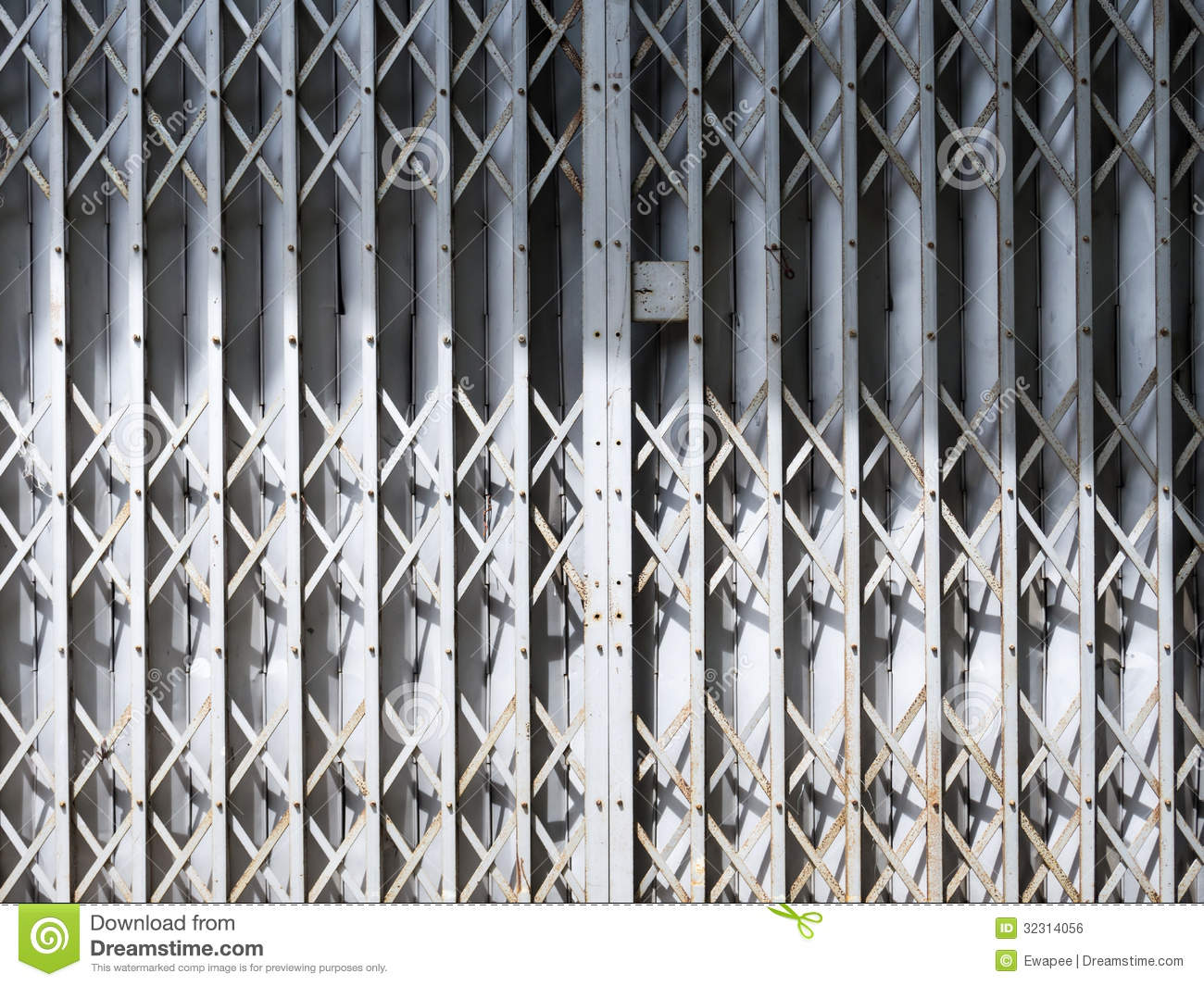 Old Gray Sliding Metal Door Royalty Free Stock Image Image 32314056