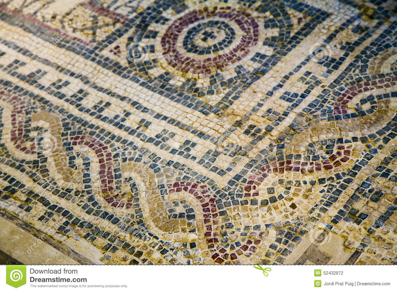 Old Greek Floor Mosaic Stock Photo Image 52432972