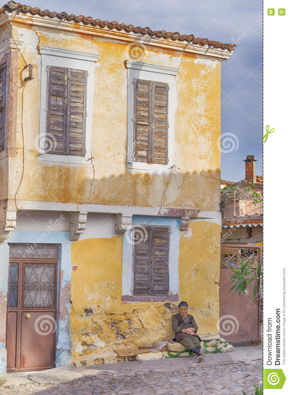 Greek Style House an old greek style house in cunda alibey island. it is a small